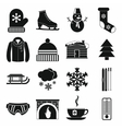 winter icons set simple style vector image vector image