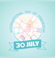 30 july international day of friendship vector image