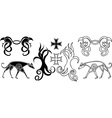 elements in viking style vector image