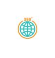 Travel circle mockup logo globe arrow with 360 vector image