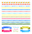 Set of watercolor stripes vector image