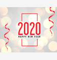 2020 new year celebration background with bokeh vector image