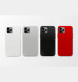 3d realistic white gray black red blank vector image