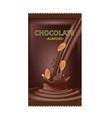 almond chocolate design vector image