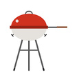barbecue grill icon isolated on white background vector image