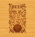 beer emblem with hops and malt vector image vector image