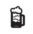 Beer Glass Black Silhouette vector image vector image