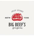Big Beef Steak House Vintage Label Emblem vector image vector image