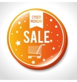 big sale cyber monday button vector image