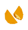 Brazil patty food flat style icon design