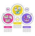 channels for seo infographic template website vector image