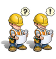 Construction Worker Reading Plan vector image