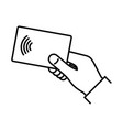 contactless wireless pay nfc technology vector image