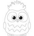 cute baby boy owl black and white poster vector image
