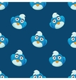 Cute Pattern With Blue Bird vector image
