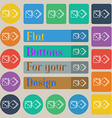 dices icon sign Set of twenty colored flat round vector image vector image