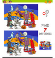 differences game with funny halloween characters vector image vector image