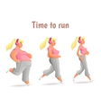 Different body types of women women run vector image