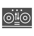 dj mixer glyph icon music and sound turntable vector image vector image