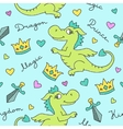 dragons seamless pattern vector image
