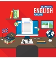 E-learning English language vector image vector image