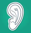 Ear hearing symbol vector image