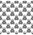 ethnic seamless black pattern on white background vector image vector image