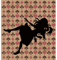 Falling Alice Silhouette vector image vector image