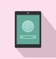 fingerprint password icon flat style vector image