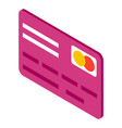 flat simple image credit card with master card vector image