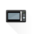 flat style black microwave oven vector image vector image