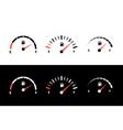 fuel indicator meter display gauge isolated set vector image