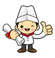 funny chef character academic graduation isolated vector image