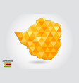 geometric polygonal style map of zimbabwe low vector image vector image