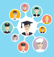 Graduation male student make career choices vector image vector image