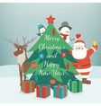 Greeting Christmas and New Year card Merry vector image vector image