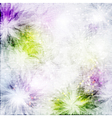Grunge fabric background with flowers vector image