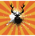 Grunge Stag vector image