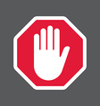 Hand blocking sign stop vector image vector image