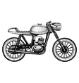 hand-painted retro motorcycle vector image vector image