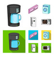 home appliances and equipment cartoonflat icons vector image