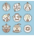 icons in modern linear style vector image vector image