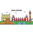 india lucknow hinduism city skyline vector image vector image
