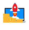 investing in launch start up vector image
