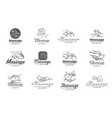 logo of massage process vector image vector image