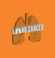 lung cancer logo icon design medical vector image