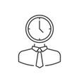 man with clock head vector image vector image