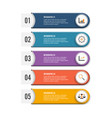 modern infographic elements banner with 5 vector image