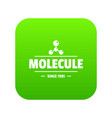 molecule energy icon green vector image vector image