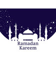 mosque and stars ramadan kareem muslim holiday vector image